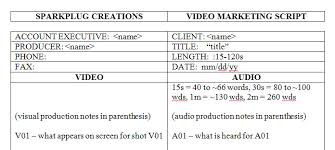 video scirpt script template for video marketing by sparkplug creations