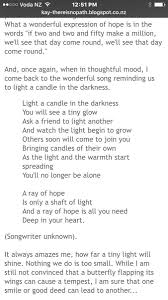 Light In The Darkness Song