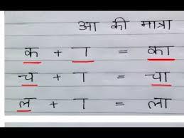 Learn Hindi Lesson 8 Aa Ki Matra