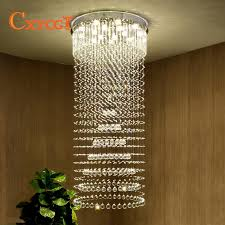 cxycgt k9 crystal chandelier villa lobby lounge dining room living room lamp double staircase long crystal chandelier light led wine glass chandelier large