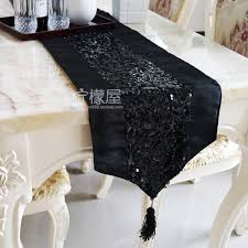 round table runner black sequin low key luxury table runner cloth cloth table cushion cover mat towel sets linen and tablecloth tablecloths