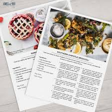 Recipe Template Free Download New Design Food Recipe Blog Website