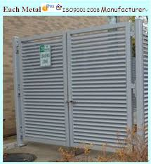 Hercules Fence  Maryland Louvered Enclosures  Virginia Louvered Aluminum Louvered Exterior Doors