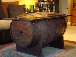 Wine Barrel Kitchen Table Round Wood Coffee Tables Interesting Round Coffee Table With