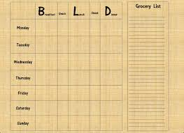 meal planning chart healthily lose weight fast part 1 meal planning charts