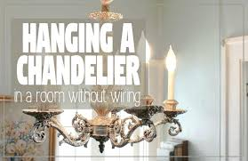 how to convert a chandelier