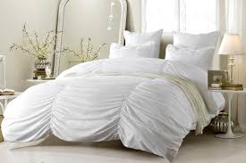 white duvet cover for family bedroom oversized for pillow top 3pc ruched design white duvet