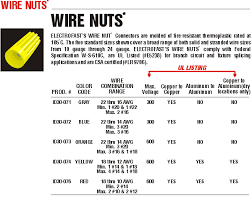 Electrical Wire Electrical Wire Nut Sizes