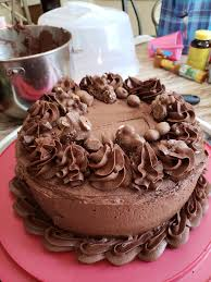 Homemade Chocolate Cake I Made For My Husbands Birthday Today Baking