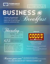 networking flyer business breakfast networking cocos restaurant bakery torrance