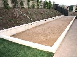 bocce ball court construction. Fine Ball Bocce Ball Court Construction Dimensions In