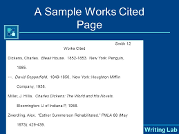purdue university writing lab mla style two parts works cited  3 purdue university writing lab works cited