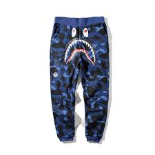 Designer Pants 2019 Fashion Mens Designer Pants A Bathing Aape Hip Hop Camo Shark Cotton Ape Mens Designer Casual Shorts Street Clothing Vetements From Beautifuly