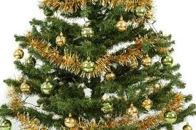 Decorating Christmas Tree With Balls Impressive Decorated Christmas Tree With Yellow And Green Balls Stock Photo