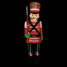 Christmas Lighted Soldiers Candy Cane Lane 6 Ft Pre Lit Half Toy Soldier 66780_mp1