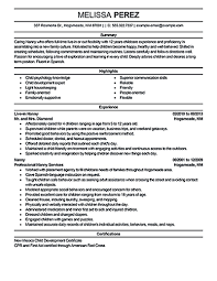 best nanny resumes nanny resume examples