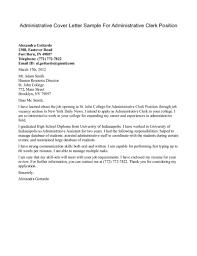 Clerical Job Cover Letter Letter Idea 2018