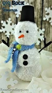 diy sock snowman craft easy