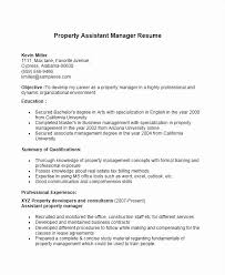 Assistant Property Manager Resume Fresh Property Manager Resume Delectable Assistant Property Manager Resume