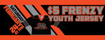5 frenzy youth jerseys blackout cancer jerseys off our backs fans can purchase up to two youth jerseys for just 5 each featuring 18 josh currie