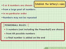 Powerball Chart 3 Ways To Calculate Lotto Odds Wikihow
