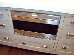 Kitchen With Wolf Microwave Drawer Built Into Island Kitchen Microwave Drawer In Island46