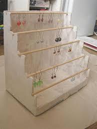 earring display stand diy rustic wood retail display fixtures shelving 14
