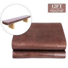 details about 12 ft foot heavy duty pu leather shuffleboard table cover dust protector brown