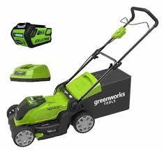 <b>Газонокосилка аккумуляторная Greenworks</b> G40LM41K4 40V 40 ...