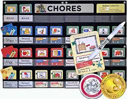 Neatlings Chore Chart System Neatlings Chore System Chore Chart For Kids 80 Chores For Toddlers To Teens Customize For 1 3 Kids Size 25 X18 Teal Household Chore
