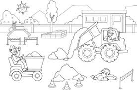 colouring for children. Perfect Colouring Construction Colouring Page Throughout Colouring For Children D