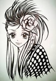Kingyooo On Twitter 部活で描いたイラスト 斬新な髪型に憧れて