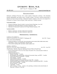Resume Outlines Examples Physician Resume Sample Health Care Sample Resumes