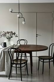 moody kitchen with natural linen tablecloth