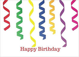 Happy Birthday Party Streamers Cover Guest Book Message