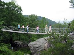 rock city gardens swinging bridge