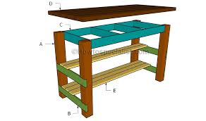 Excellent Wonderful Kitchen Island Plans Diy Kitchen Island Plans  Howtospecialist How To Build Step