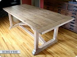 Build Dining Room Table Custom Diy X Base Dining Table