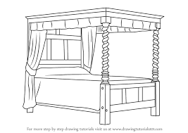 bed drawing easy. Plain Bed Learn How To Draw A Fourposter Bed Furniture Step By  Drawing  Tutorials To Bed Easy O