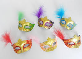 Miniature Masquerade Masks Decorations New Mini Feather Mask Venetian Masquerade Party Decoration 27
