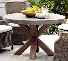 patio round wood patio table outdoor furniture wood types unique round concrete dining table with