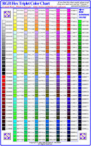 Html Color Chart With Names Web Color Chart