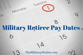 Military Retirement Pay Chart 2020 2020 Retired Military Pay Dates Annuitant Pay Schedule