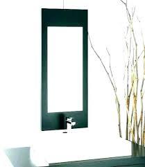 narrow bathroom mirror cabinet long ow mirrors beveled wall gold wood framed tall decorative skinny