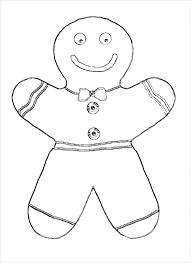 Gingerbread Man Coloring Pages Gingerbread Man Coloring Pages