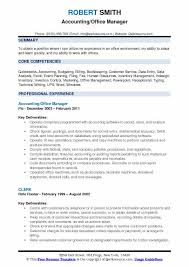 Office Management Resume Accounting Office Manager Resume Samples Qwikresume