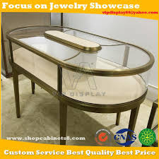 china customized round anti gold jewelry display case with electronic sensor lock for jewellery retail manufacturers and suppliers factory direct