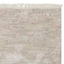 mabel hand knotted rug swatch blush taupe