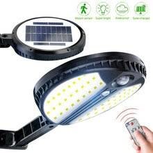 Super Bright 70 <b>LED</b> Round <b>Solar PIR</b> Motion Sensor Wall Lamp ...