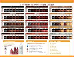 Yunsey Color Chart 14 High Quality Wella Color Charm Comparison Chart